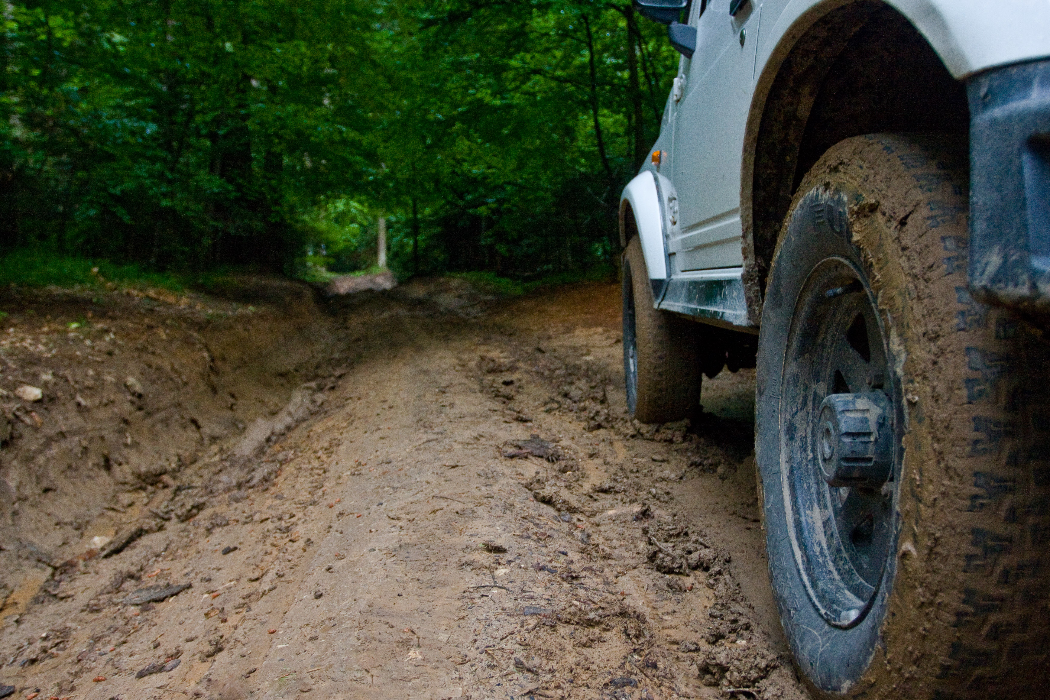 July 2009. First time on some muddy business.